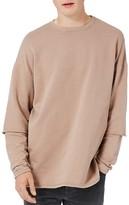 Topman Men's Layer Sleeve Sweatshirt