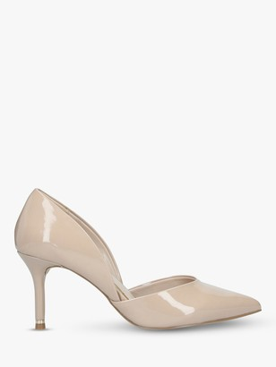 Carvela Lady Cut Out Stiletto Heel Court Shoes, Nude Patent