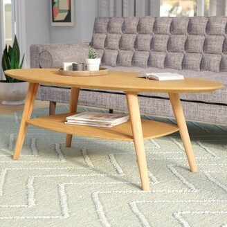 Langley StreetTM Asherman Extendable Coffee Table with Storage Langley Street Color: White Oak