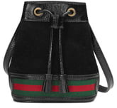 Gucci Mini Suede & Leather Bucket Bag