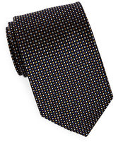 Black Brown 1826 Classic Geometric Silk Tie