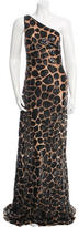 Michael Kors One-Shoulder Sequined Dress w/ Tags