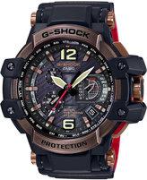 G-Shock Men's Solar Analog-Digital Gravitymaster Black Resin Strap Watch 56mm GPW1000RG-1A
