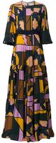 Roksanda mixed print maxi dress