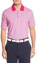 Cutter & Buck Men's Seapines Stripe Moisture Wicking Polo