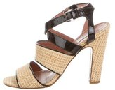 Alaia Raffia Caged Sandals