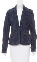 Burberry Suede Notch-Lapel Jacket