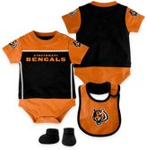 NFL Cincinnati Bengals Lil Jersey Size 24M 3-Piece Creeper, Bib, and Bootie Set