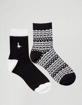 Jack Wills 2 Pack Pullborough Socks