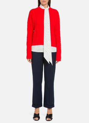 St. John Galway Cable Knit Sweater