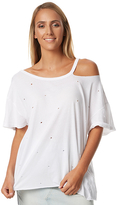 MinkPink Cement Womens Distressed Tee White