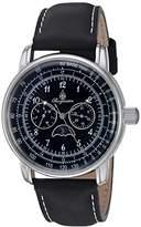 Burgmeister Men's Quartz Metal and Leather Casual Watch, Color:Black (Model: BM335-122)