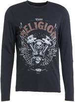 True Religion Motorblock Long Sleeved Top Black