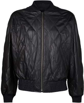 Haider Ackermann Leather Quilted Bomber Jacket