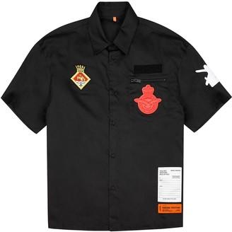 Heron Preston Black Appliqued Cotton Shirt