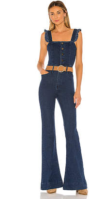 Show Me Your Mumu Rhea Ruffle Jumpsuit. - size L (also