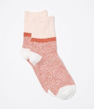 LOFT Marled Colorblock Crew Socks