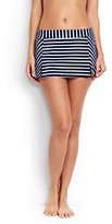Classic Women's Mini SwimMini Skirt-Deep Sea/White Media Stripe