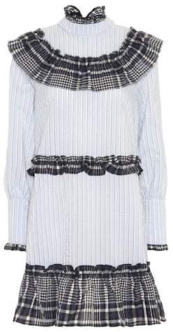 Ganni Charron seersucker dress