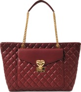 Love Moschino Heart Quilted zipped tote