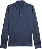 Pal Zileri Navy Mercerised Cotton Polo Shirt