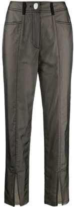 REJINA PYO Slim Pocket Detail Trousers
