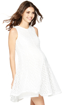 A Pea in the Pod Belted Maternity Dress