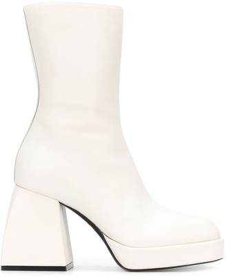 Nodaleto Chunky-Heel Ankle Boots