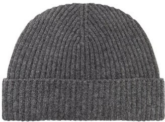 Johnstons of Elgin Johnston's Of Elgin - Ribbed Cashmere Beanie - Charcoal