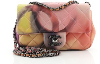 Chanel Flower Power Flap Bag Quilted Lambskin Extra Mini