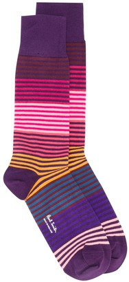 Paul Smith Striped Print Socks