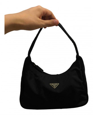 Prada Re-Nylon Black Cloth Handbags
