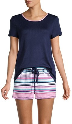 Nautica 2-Piece Short-Sleeve Top & Shorts Pajama Set