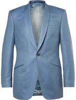 Richard James Blue Slim-Fit Super 130s Silk and Wool-Blend Jacquard Suit Jacket