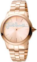 Just Cavalli 36mm Logo Mohair Bracelet Watch, Rose Golden