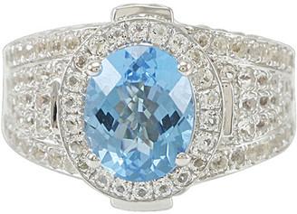 Suzy Levian Diamonds Suzy Levian Silver 6.64 Ct. Tw. Diamond & Topaz Ring