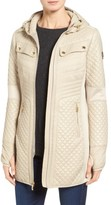 MICHAEL Michael Kors Women's Mixed Media Hooded Zip Front Coat