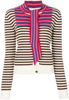 Marco De Vincenzo striped neck-tie cardigan