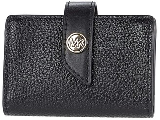MICHAEL Michael Kors Charm Small Tab Card Case (Black) Handbags