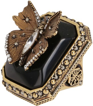 Alexander McQueen Butterfly Embellished Ring