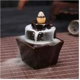 ECYC Ceramic Glaze Incense Burner Indoor Backflow Censer Aromatherapy Tower Holder Collectible