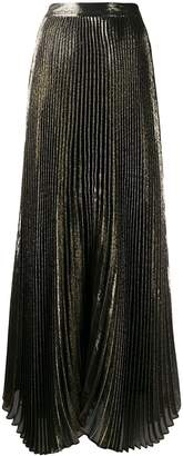 Alice + Olivia Alice+Olivia pleated lamé skirt