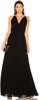 Elizabeth and James Cadence Tie Neck Pleated Gown