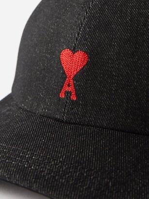 Ami De Cur-embroidered Cotton Cap - Black