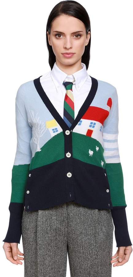 Thom Browne Multicolor House Cashmere Knit Cardigan