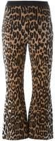 Stella McCartney flared cheetah jacquard trousers