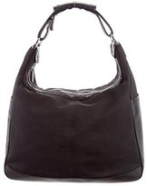 Tod's Leather-Trimmed Nylon Hobo