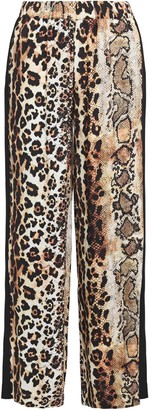 Just Cavalli Printed Crepe Wide-leg Pants