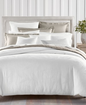 Charter Club Damask Designs Woven Leaves Cotton 3-Pc. King Duvet Set, Created for Macy's Bedding