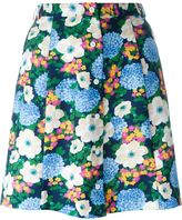 Carven floral print A-line skirt - women - Polyester/Acetate/Viscose - 38